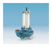 Submersible pumps with entrained solids waste water